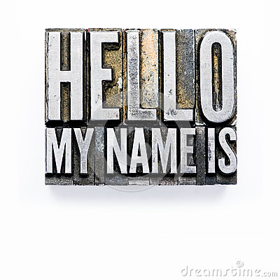 Free Hello, My Name Is Stock Image - 75296981