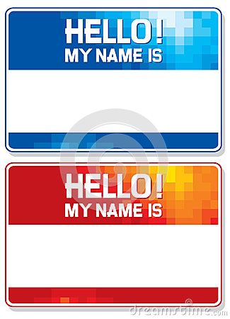 Free Hello My Name Is Card Royalty Free Stock Image - 29449926