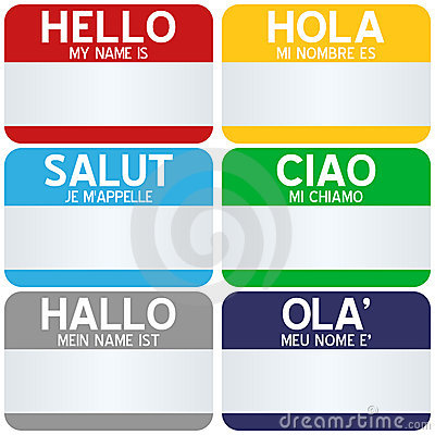 Free Hello My Name Is Tags Stock Image - 14803391