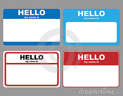 Hello name tags Vector Illustration