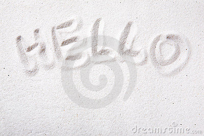 Hello Sand message