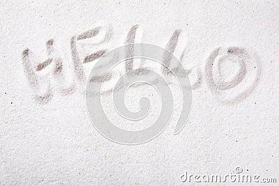 Hello Sand message