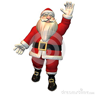 Hello - Santa Claus in greeting pose