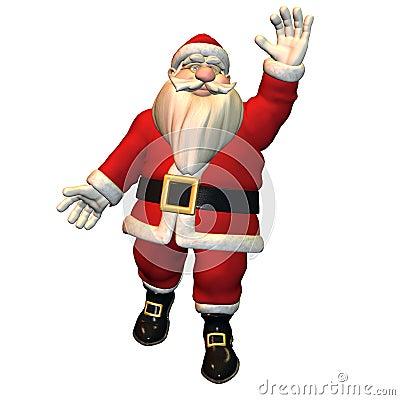 Hello - Santa Claus in greeting pose