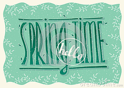 Hello spring time Vector Illustration