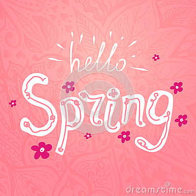 Hello spring Vector Illustration