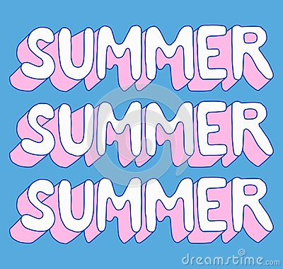 Free Hello Summer Poster. Hello Summer Poster. Handwritten Modern Lettering For Cards, Posters, T-shirts, Etc. Stock Images - 119236824