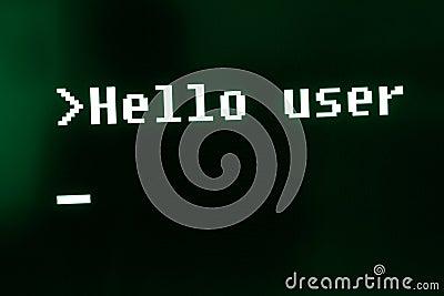 Hello user