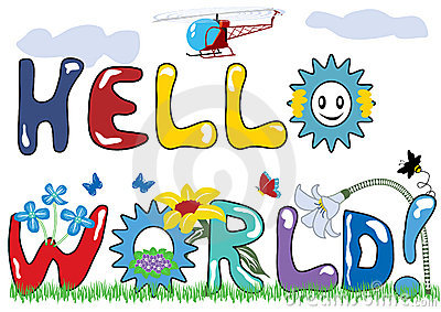 Hello world letters