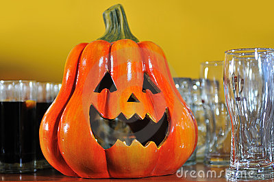 Helloween party pumpkin glasses