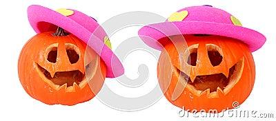 Helloween pumpkin with pink head