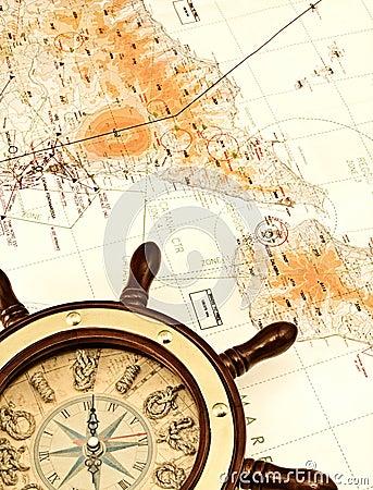 Helm auf der Karte