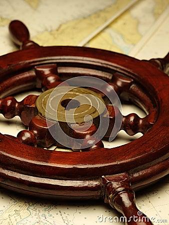Helm on the nautical maps