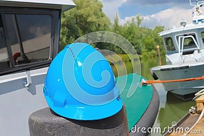 Helmet amid built ships