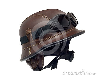 Helmet of the biker