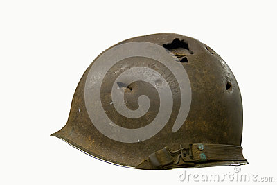 Helmet with Bullet Holes