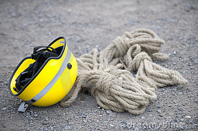 Helmet and safety rope