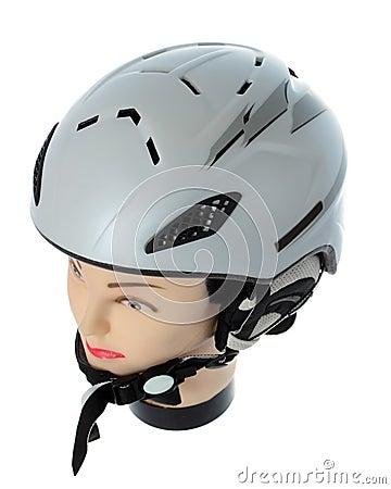 Helmet skier