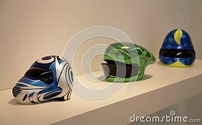 Helmets Scuplture art Patricia Picccinni Editorial Image