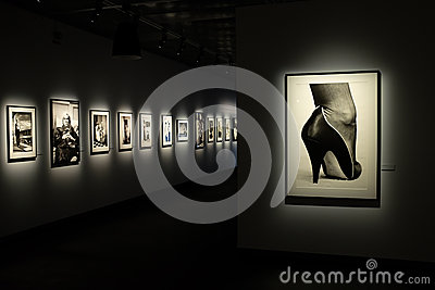 Helmut Newton exhibition in Stockholm Editorial Photography