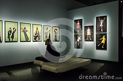 Helmut Newton photography exbition at Stockholm Editorial Image