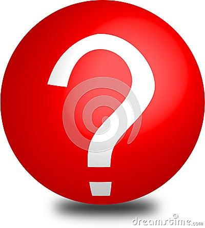 Help button red aqua sphere 3d