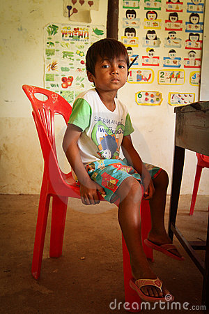Help deprived children in Thailand Editorial Photo