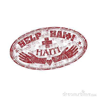 Help Haiti rubber stamp Editorial Photo