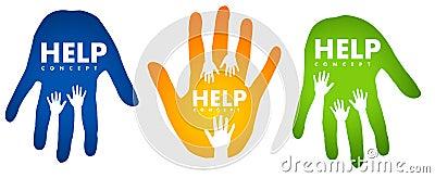 Help Hands Concept