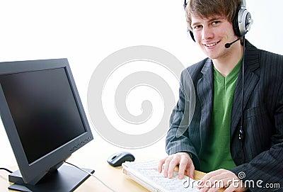 Help line computer