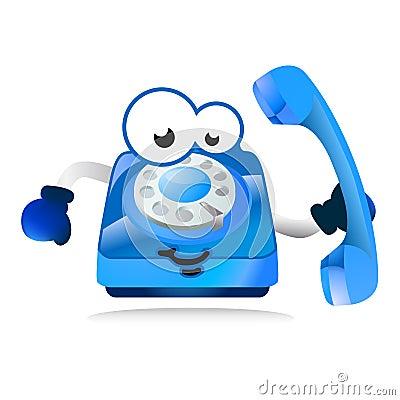 Help line phone mascot