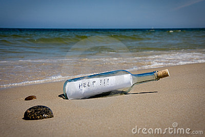 Help message in bottle