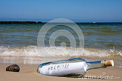 Help message in bottle