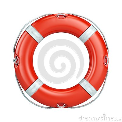 Free Help, Safety, Security Concept. Lifebelt, Life Buoy Isolated On White Background Royalty Free Stock Photography - 104750007
