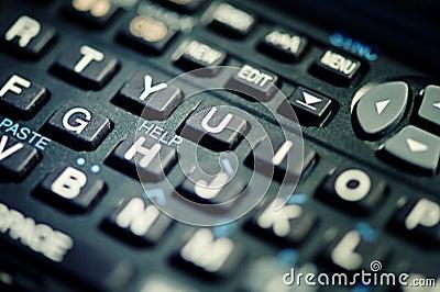 Help text on keyboard