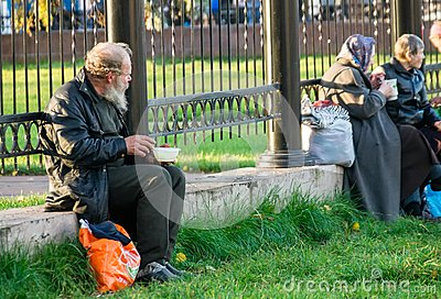 Help to homeless people Editorial Stock Photo