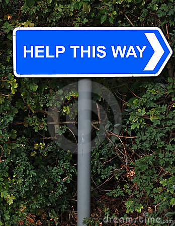 Help This Way Sign