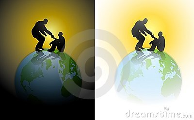 Helping Hand Humanity Earth Royalty Free Stock Image - Image: 4570396