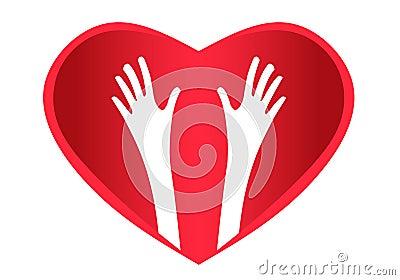 Helping Hands Heart logo
