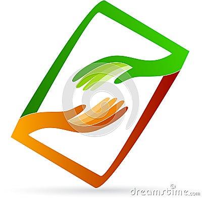 Free Helping Hands Logo Stock Photo - 26194570