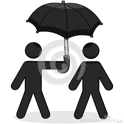 Helping umbrella