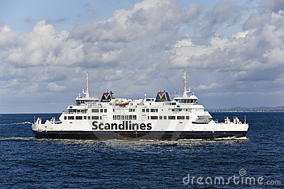 Helsinborg, sweden: scandlines ferry Editorial Stock Photo