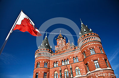 Helsingborg in Sweden:  (town hall)