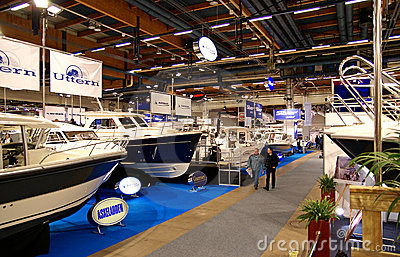 On Helsinki Boat Show 2009 Editorial Stock Photo