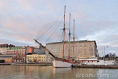 Helsinki  in december morning