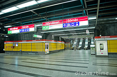Helsinki metro Editorial Photography