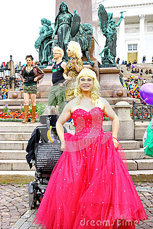 Helsinki Pride gay parade Editorial Photography