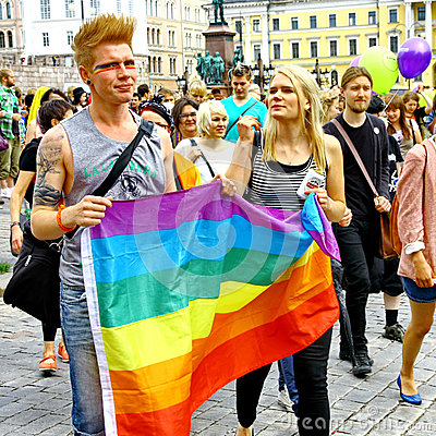 Helsinki Pride gay parade Editorial Photo