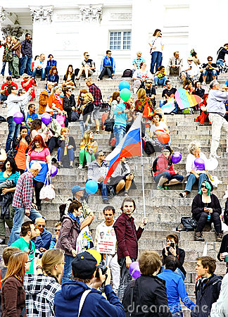 Helsinki Pride gay parade Editorial Image