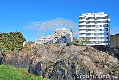 Helsinki. Rocky cityscape